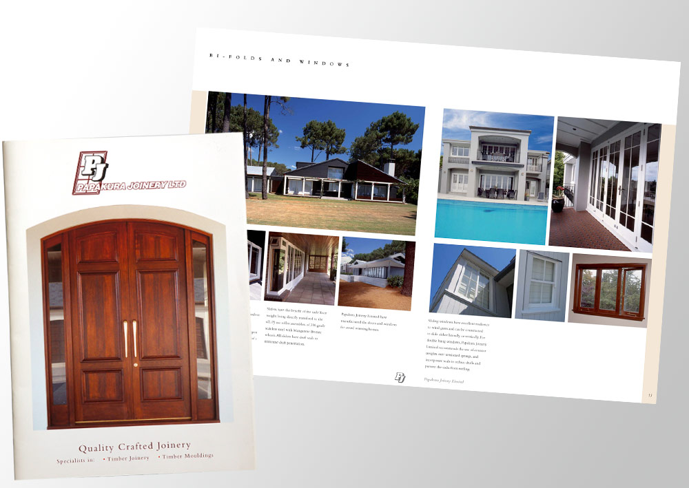 Brochure with architectural photography
